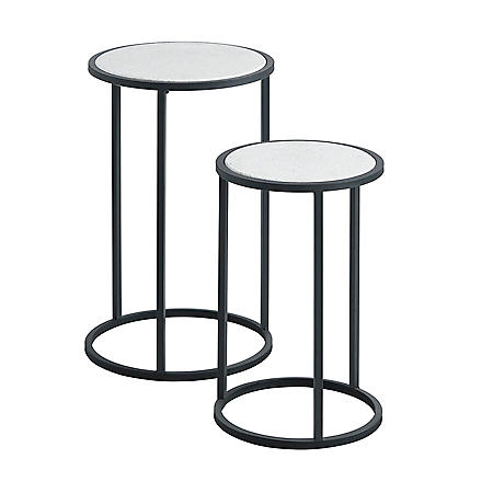 Round Accent Tables, Set of 2