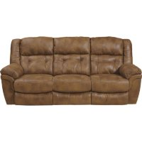 Deals on Jennings Dual Lay Flat Reclining Sofa w/Drop-Down Table