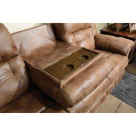 Cool Jennings Dual Lay Flat Reclining Sofa With Drop Down Table Beatyapartments Chair Design Images Beatyapartmentscom