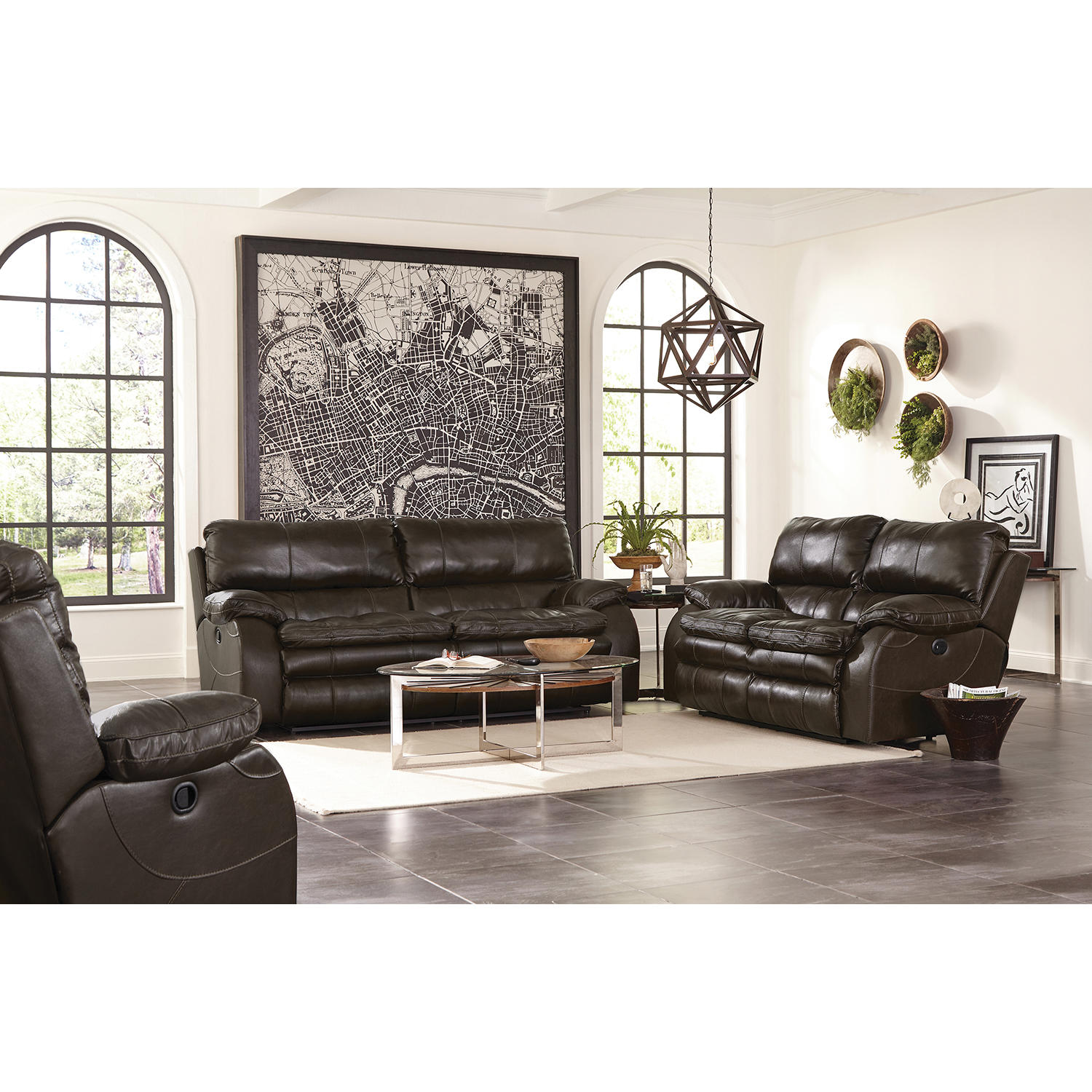 Jackson Furniture Kensington Top-Grain Leather Lay Flat Reclining Set
