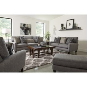 Madison Sofa, Loveseat, Chair and Ottoman Stationary Set