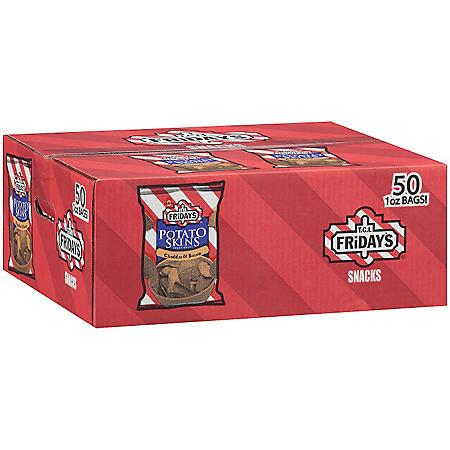 T.G.I. Friday's Potato Skins Snack Chips, Cheddar & Bacon (1 oz., 50 ct.)