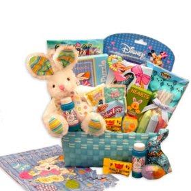 Peter Cottontails Blue Easter Gift Basket