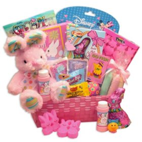 Peter Cottontails Pink Easter Gift Basket