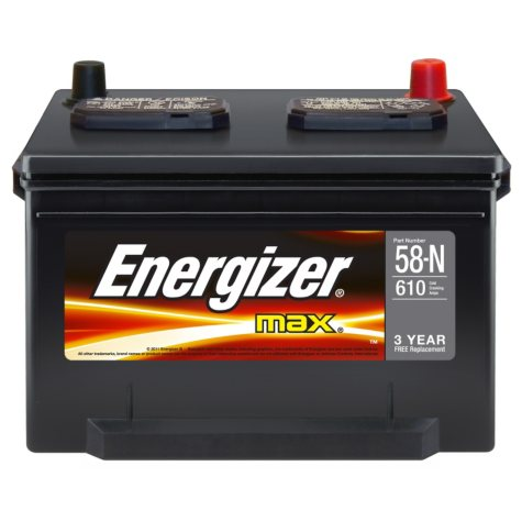 Energizer Automotive Battery - Group Size 58