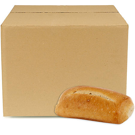 Petite White Hoagie Rolls, Bulk Wholesale Case (126 ct.)