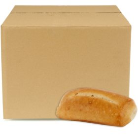 Petite White Hoagie Rolls, Bulk Wholesale Case (126 ct.)