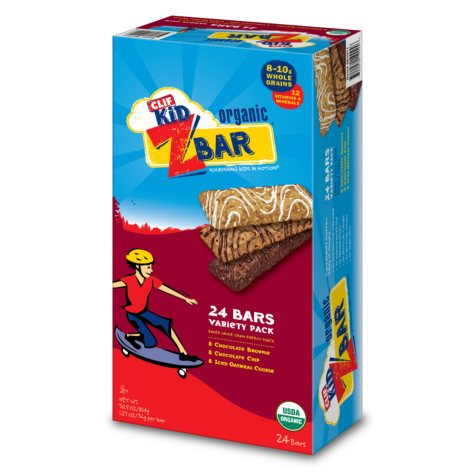 CLIF Kid Z Bar, Variety Pack - 1.27 oz. - 24 ct.