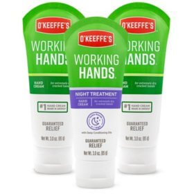 O'Keeffe's Working Hands and Working Hands Night Treatment (3 oz., 3 pk.)