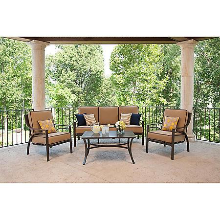 La-Z-Boy Outdoor Jax 4 pc. Deep Seating Set with Premium Sunbrella® Fabric