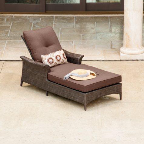 La-Z-Boy Outdoor Eva Chaise Lounge with Premium Sunbrella® Fabric