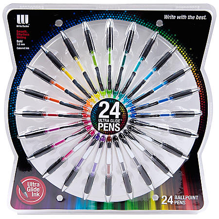 Write Dudes Ultra Glide Ballpoint Pens, Assorted Colors (24 pk.)