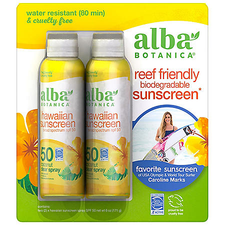 Alba Botanica Hawaiian Sunscreen SPF 50 SPF 50 (6 oz., 2 pk.)