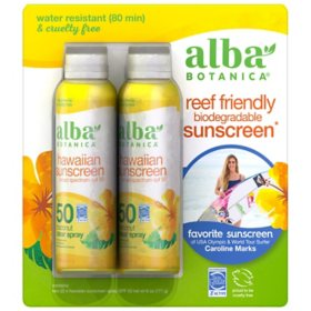 Alba Botanica Hawaiian Sunscreen SPF 50 SPF 50 (6 oz., 2 pk.)