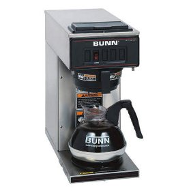 BUNN VPR 12-Cup Low-Profile Commercial Pour Over Coffee Maker with 1 Warmer
