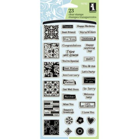 Inkadinkado Inchies Clear Stamps -Greetings