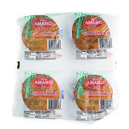 Hilo's Amano Finest Gobo Tempura Deep Fried Fish Cake (5.5 oz. ea., 4 ct.)