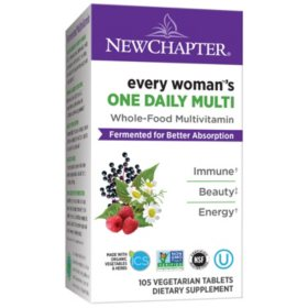 New Chapter Every Woman One Daily, Fermented Whole-Food Women's Multivitamin (105 ct.)