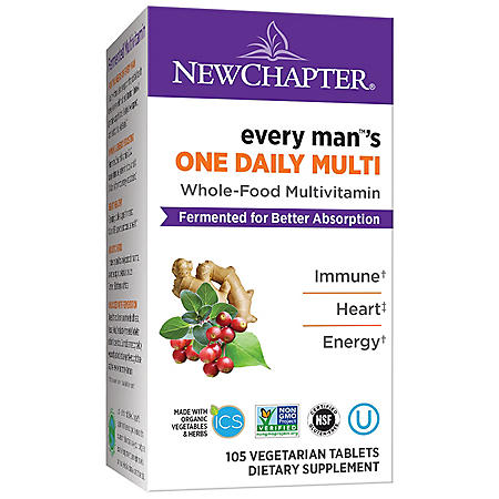 New Chapter Every Man One Daily, Fermented Whole-Food Men's Multivitamin (105 ct.)