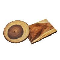 2-Piece Acacia Wood Serving Set