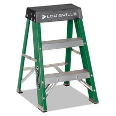 Louisville Folding Fiberglass Locking 2-Step Stool