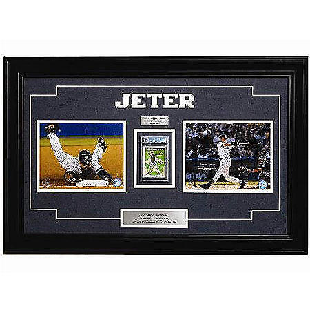 Autographed Framed Derek Jeter Rookie Card Sams Club