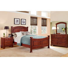 Elm Panel Bedroom Set , King  (4 pc. set)
