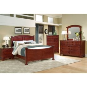 Elm Panel Bedroom Set, Queen (5 pc. set)