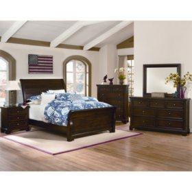 Brooklyn Sleigh Bedroom 5-Piece Set, King - Sam\'s Club