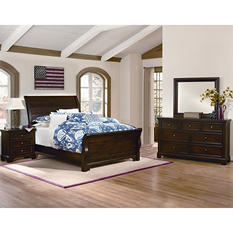 Brooklyn Sleigh Bedroom Set, Queen (4 pc. set)