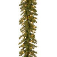National Tree Company 9' Dunhill Fir Garland with Clear Lights