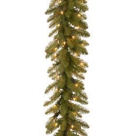 9' Dunhill Fir Garland with 100 Clear Lights