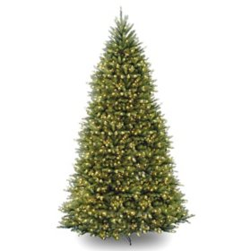 National Tree Company 10' Pre-Lit Dunhill Fir Christmas Tree with Dual-Color LED Lights