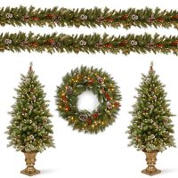 National Tree Company Pre-Lit Frosted Berry Assortment