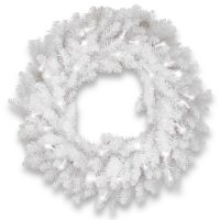 """National Tree Company 30"""" Dunhill White Fir Wreath with Clear Lights"""