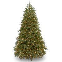 National Tree Company 6.5' Pre-Lit Jersey Frasier Fir Medium Christmas Tree with Dual-Color LED Lights