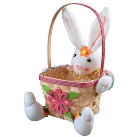 "9.5"" Easter Bunny and Basket"