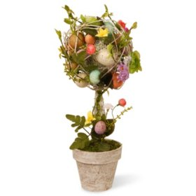 "17"" Garden Accents Easter Egg Topiary"