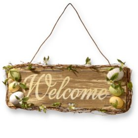 "21"" Easter Welcome Sign"