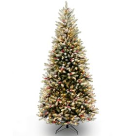 National Tree Company 7.5' Pre-Lit Dunhill Fir Slim Christmas Tree