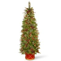 National Tree Company 6' Colonial Slim Half Tree with Clear Lights
