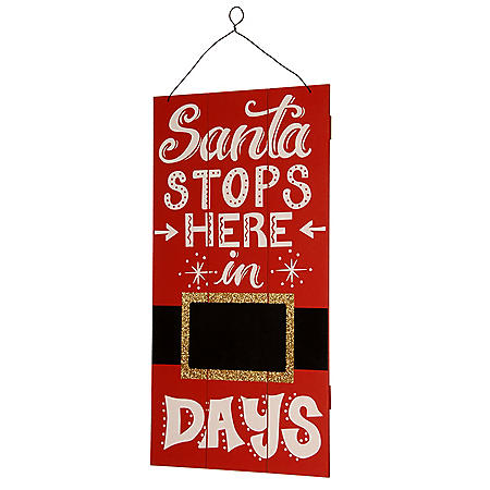 "22"" Santa Countdown Wall Art"