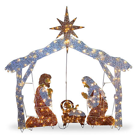 "National Tree Co. 72"" Pre-Lit Nativity Scene"