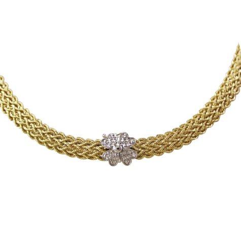 Love, Earth® Diamond-Cut Clover Lock Clasp Necklace