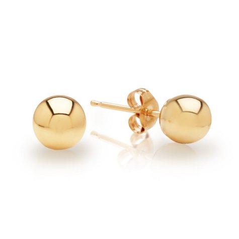 5mm Ball Earrings in 14K Yellow Gold