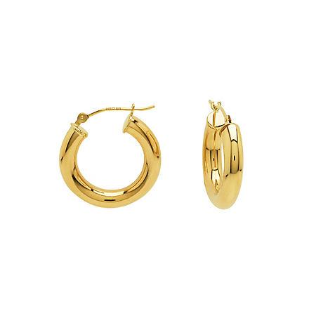 24ba69a4e 14K Yellow Gold Classic Hoop Earrings - Sam's Club
