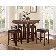 Athena 5 Piece Counter Height Pub Set with Game Board