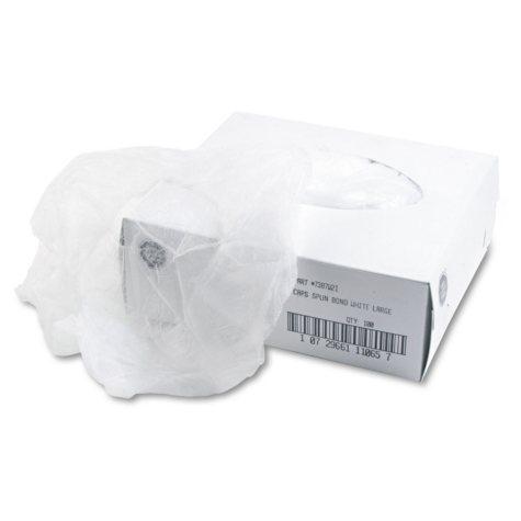 Disposable Hair Net, Spun-Bonded Polypropylene, White, 100 per Bag