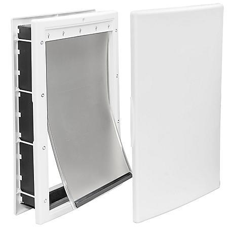 """Premier Pet Large Plastic Pet Door, White (10 1/8"""" x 16 1/4"""" opening)"""