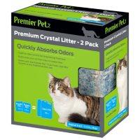Premier Pet Premium Crystal Litter, Original Scent Premium Crystal Cat Litter for Dual-Fresh Cat Litter Box (2 pk.)
